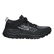 Womens Skechers GO Run Max Trail 5 Ultra Trail Running Shoe - Black/Grey 7.5