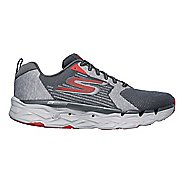 Mens Skechers GO Run Max Road 3 Running Shoe - Charcoal/Red 12