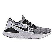 Womens Nike Epic React Flyknit 2 Running Shoe - White/Black 6.5