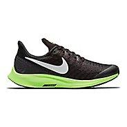 Kids Nike Air Zoom Pegasus 35 Running Shoe - Black/Lime 3Y