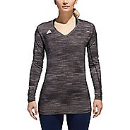 Womens Adidas Hilo Jersey Long Sleeve Technical Tops