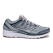 Womens Saucony Guide ISO 2 Running Shoe - Grey/Pink 7