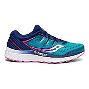 Womens Saucony Guide ISO 2 Running Shoe - Teal/Pink 7.5