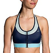 Womens Brooks FastForward Zip Sports Bra