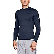 Mens Under Armour ColdGear Mock Fitted Long Sleeve Technical Tops