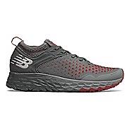 Mens New Balance Fresh Foam Hierro v4 Trail Running Shoe - Lead/Scarlet/Orca 14