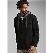 Mens Prana Bolster Long Sleeve Hooded Flannel Half-Zips and Hoodies Technical Tops