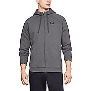 Mens Under Armour Rival Fleece Full Zip Half-Zips and Hoodies Technical Tops