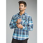 Mens Prana Citadel Plaid Long Sleeve Technical Tops