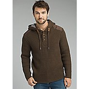 Mens Prana Hooded Henley Sweater Half-Zips and Hoodies Technical Tops