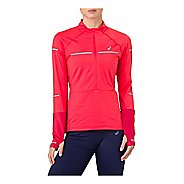 Womens ASICS Lite-Show Winter Long Sleeve Half-Zips & Hoodies Technical Tops