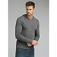 Mens Prana Long Sleeve Hood Half-Zips and Hoodies Technical Tops
