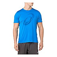 Mens ASICS Silver #2 Graphic Short Sleeve Technical Tops