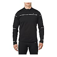 Mens ASICS Lite-Show Winter Long Sleeve 1/2 Zip Half-Zips & Hoodies Technical Tops