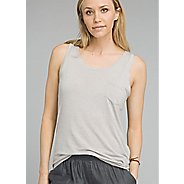 Womens Prana Foundation Scoop Neck Sleeveless and Tank Technical Tops