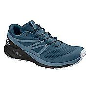 Womens Salomon Sense Ride 2 Trail Running Shoe - Blue/Black 11
