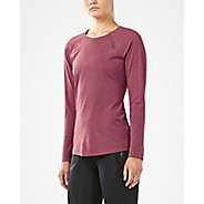 Womens 2XU HEAT Run Long Sleeve Technical Tops