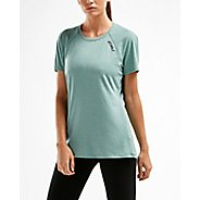 Womens 2XU HEAT Run Tee Short Sleeve Technical Tops
