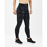 Womens 2XU Print Fitness Mid Rise Tights & Leggings Pants