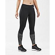 Womens 2XU Refl Run Mid Tight w Back Stow Tights & Leggings Pants