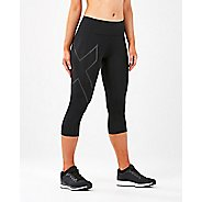 Womens 2XU Run Mid Rise Comp 3/4 Tights & Leggings Pants