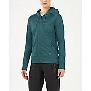 Womens 2XU URBAN Zip Thru Half-Zips & Hoodies Technical Tops