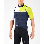Mens 2XU Cycle Thermal Gillet Short Sleeve Technical Tops