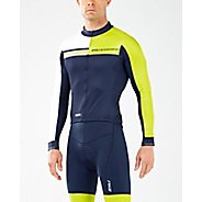 Mens 2XU Cycle Thermal Jersey Long Sleeve Technical Tops