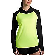 Womens Brooks Dash Nightlife Half-Zips and Hoodies Technical Tops