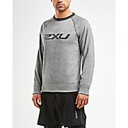 Mens 2XU URBAN Reversible Crew Pullover Long Sleeve Technical Tops