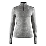 Womens Craft Fuseknit Comfort Zip Long Sleeve Technical Tops