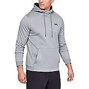 Mens Under Armour Fleece Pull Over Half-Zips and Hoodies Technical Tops