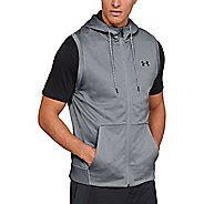 Mens Under Armour Fleece Sleeveless Full Zip Half-Zips and Hoodies Technical Tops