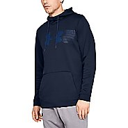Mens Under Armour Fleece Spectrum Pull Over Half-Zips and Hoodies Technical Tops