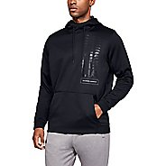 Mens Under Armour Fleece Fade Pull Over Half-Zips and Hoodies Technical Tops