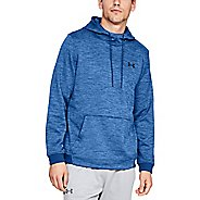 Mens Under Armour Fleece Twist Pull Over Hoody Half-Zips and Hoodies Technical Tops