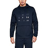 Mens Under Armour Fleece Tempo Pull Over Half-Zips and Hoodies Technical Tops