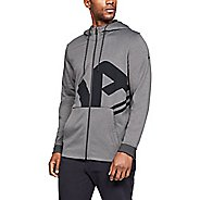 Mens Under Armour Fleece Full Zip Half-Zips and Hoodies Technical Tops