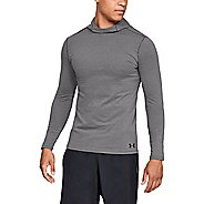 Mens Under Armour Fitted ColdGear Half-Zips and Hoodies Technical Tops