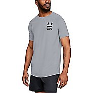 Mens Under Armour Mk1 Logo Graphic Short Sleeve Technical Tops