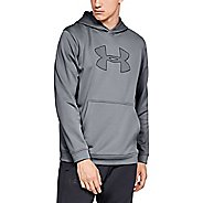 Mens Under Armour Performance Fleece Graphic Hoody Half-Zips and Hoodies Technical Tops