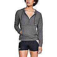 Womens Under Armour Featherweight Fleece Half-Zips & Hoodies Technical Tops