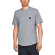 Mens Under Armour Sportstyle Pocket Tee Short Sleeve Technical Tops