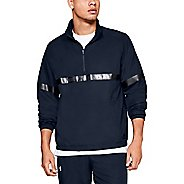 Mens Under Armour Sportstyle Woven Half-Zips and Hoodies Technical Tops
