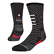 Mens Stance RUN Slanted Crew Socks - Black M