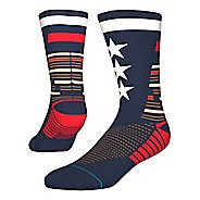 Mens Stance TRAINING Tribute Crew Socks - Navy M