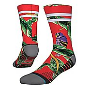 Mens Stance TRAINING Tripicana Crew Socks - Red M