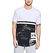 Mens Under Armour Sportstyle Print Short Sleeve Technical Tops