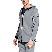 Mens Under Armour Unstoppable Move Full Zip Half-Zips and Hoodies Technical Tops
