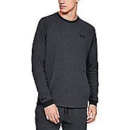 Mens Under Armour Unstoppable 2X Knit Crew Long Sleeve Technical Tops